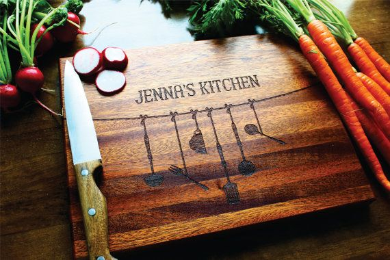 Personalized Gift For Mom Cutting Board, Personalized Kitchen Decor, Christmas Gift, Gift For Her, Husband Gift, Kitchen Decor, Hostess