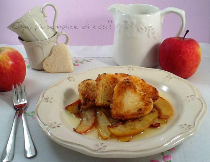 Mele alla vaniglia con crostini, dolce colazione romantica
