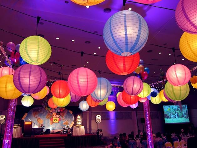 """Up"" themed wedding! if not balloons, lanterns!"