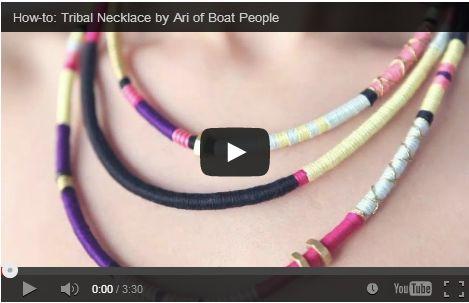 Collane fai da te idee: modello tribale  http://hobby.donnatrendy.com/collane-fai-da-te-idee-modello-tribale/5471/