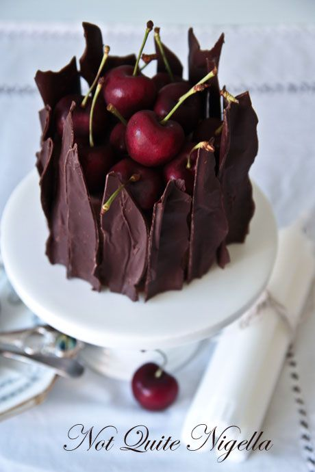 cherries, chocolate and cheesecake
