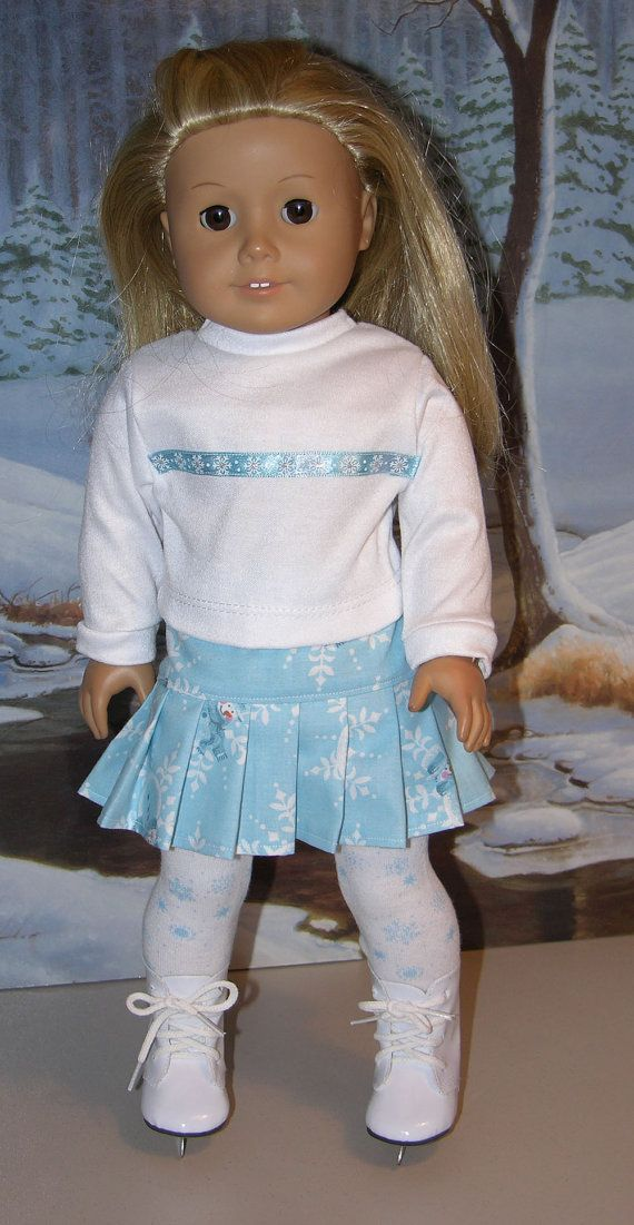 Ice Skating Skirt ensemble for American Girl by cupcakecutiepie