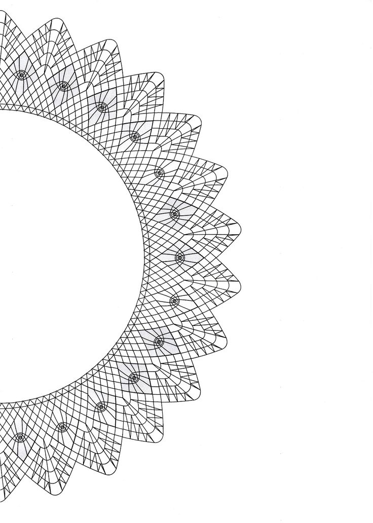 TK Lace Long, round, square, oval - this pattern in straight, corner, and curve shape...put pattern pieces together to make shape desired.