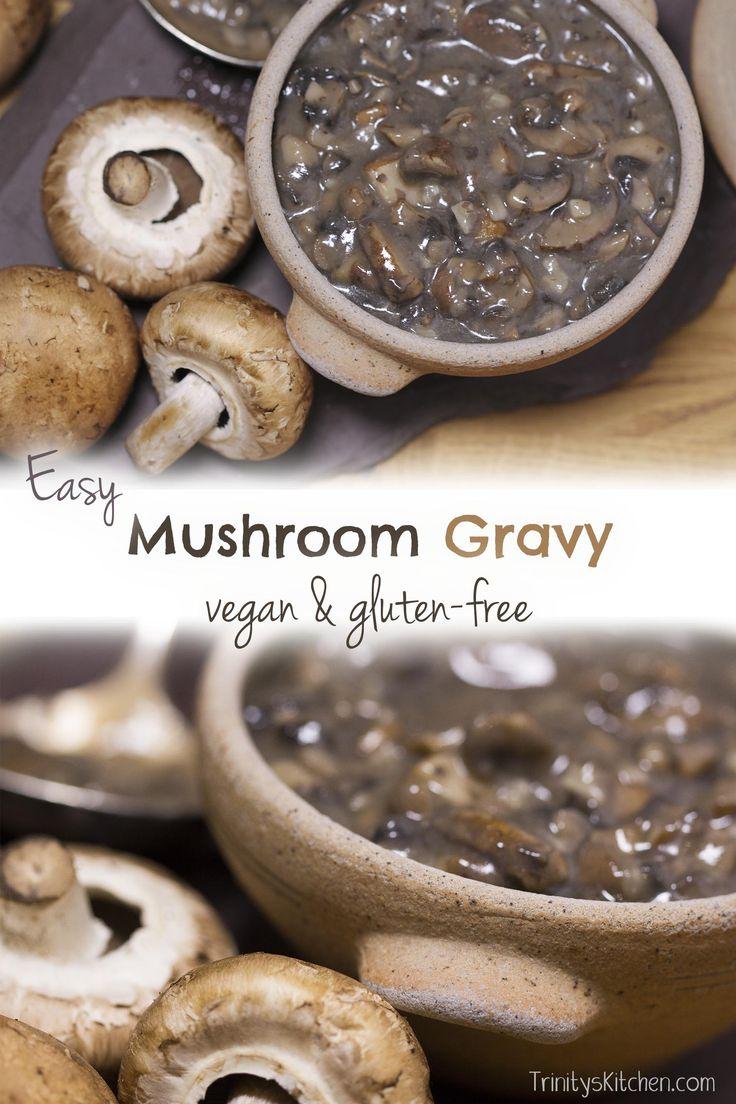 Easy vegan mushroom gravy recipe and short video. #vegan #glutenfree…
