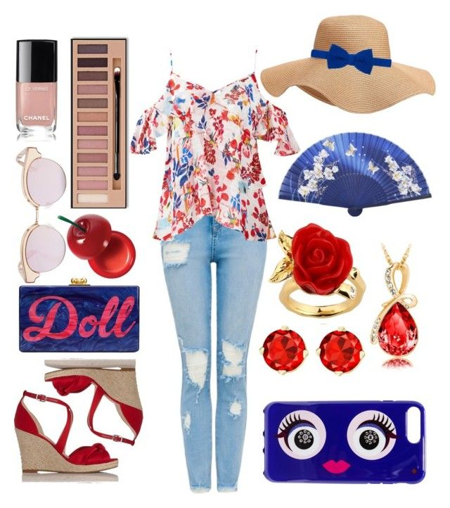 """""""Holidays"""" by babsi666 on Polyvore featuring Tanya Taylor, Edie Parker, Le Specs, Charlotte Russe, L.K.Bennett, Old Navy, Diverso, Disney and Kate Spade"""