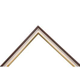 Narrow White är en spännande ramlist för effektfulla ramar. Med en mörkbrun baksida, antikvit hålkäl och insida i silver, är detta en ram som sätter prägel på dina väggar. Ramlisten har dessutom ett bra falsdjup för t.ex. kilramar och oljemålningar. Alltid fin och hög kvalité. Svensk tillverkning av furu från svenska skogar. Bredd: 19 mm. Höjd: 29 mm. Falsdjup: 17 mm.