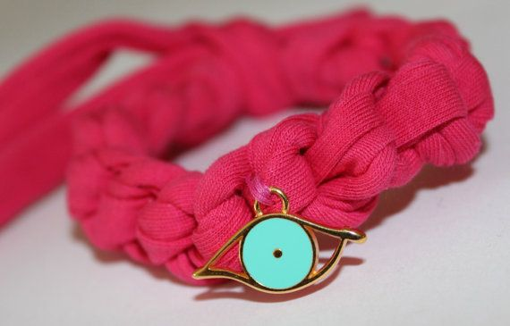 EVIL EYE cotton bracelet many colours available by Ninodesigns