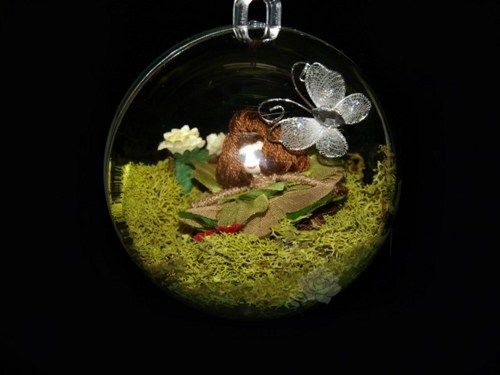 Bubble Faerie Garden #7 OOAK   FaerieNursery - Dolls & Miniatures on ArtFire