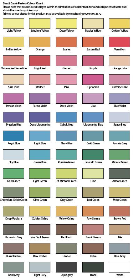 Pastel Tone Good Color To Paint A Kitchen: Conté Carré Square Pastels