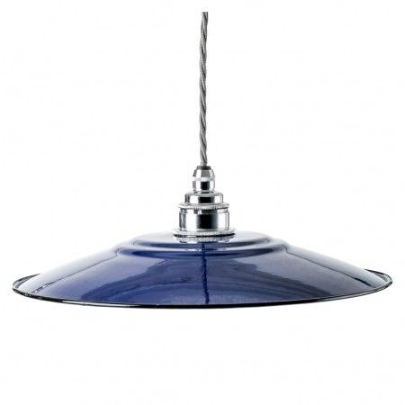 <p>The flat design of Nook London's enamel lamp shade is inspired by European style.</p>