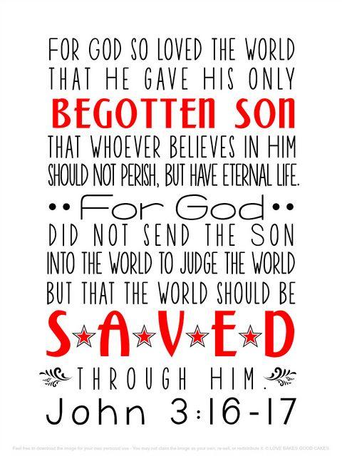 John 3:16-17 Subway Art by lovebakesgoodcakes, via Flickr