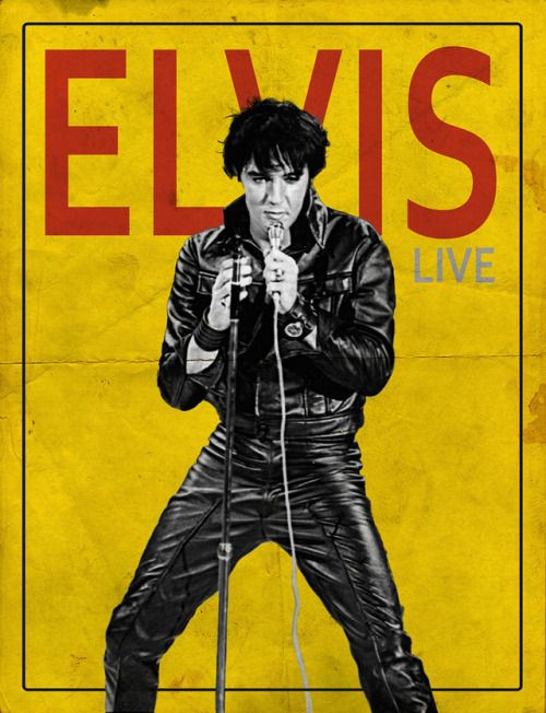 Elvis Presley, Leather Lust Poster  Made by Angela Wingss  #ELVIS #ELVISPRESLEY #LEATHER #THEKING #king #fashion #sexy #1960s #1970s #rockstar #poster #yellow #rock