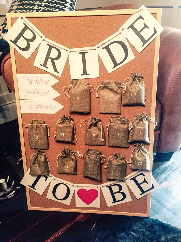 Wedding Gifts For Honeymoon: Wedding Advent Calendar That I Made For The Bride, So
