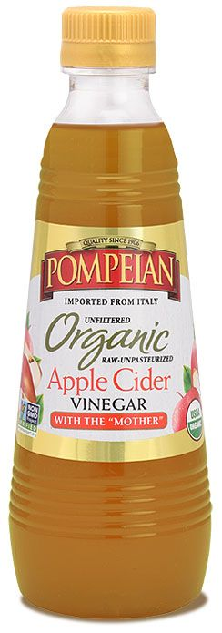 Pompeian Organic Apple Cider Vinegar with The Mother