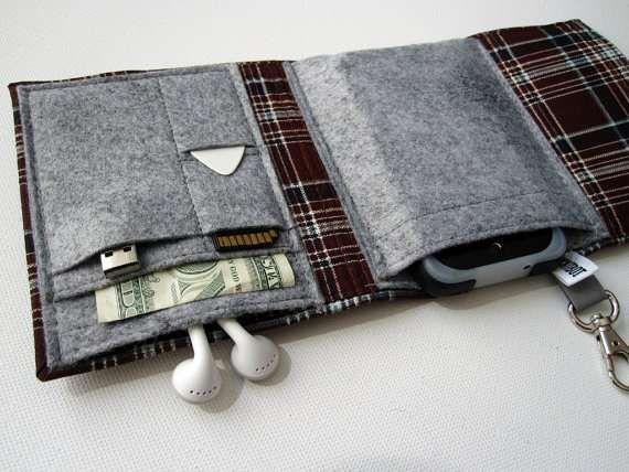 Woolen Pocket Gadget Clutches  Nerd Herder Wallet Stores All the Essentials in One Spot