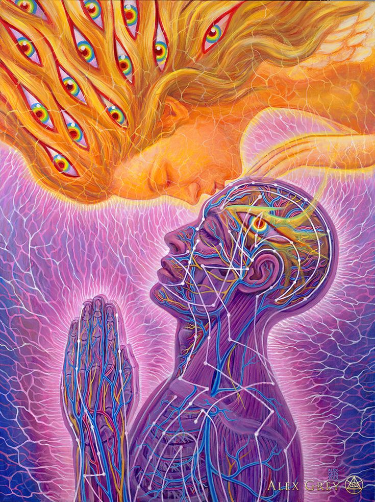 Alex Grey - Progress of the Soul - Kiss of the Muse / Anatomical <3