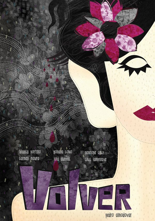 Volver (2006). Pedro Almodóvar - Minimal Movie posters by Marija Markovic