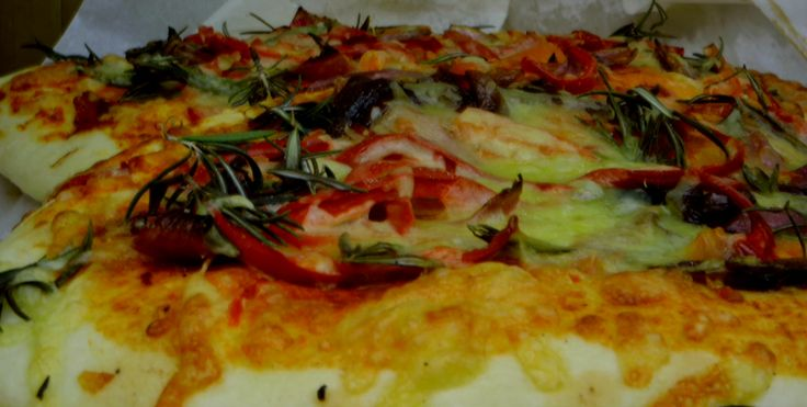 Pizza from farmers market at Gisborne