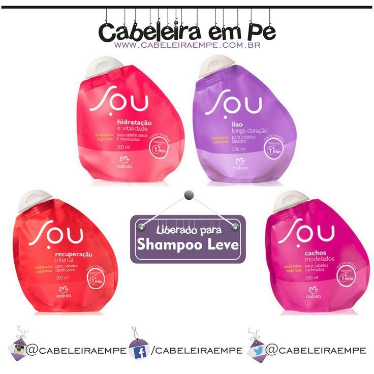"""Para composição completa clique em """"Visite"""". Mascaras Express Linha SOU Natura Liberadas para Low Poo (Shampoo Leve). Sem Petrolatos e com silicones.   #cabeleiraempe #tecnicashampooleve #shampooleve #xampuleve #poucoshampoo #poucoxampu #blog #cabelo #cabelos #beleza #hair #lowpoo #silicones #sempetrolatos #novidade #lancamento #mascara #cronogramacapilar #cronogramahidratacao #hidratacao"""