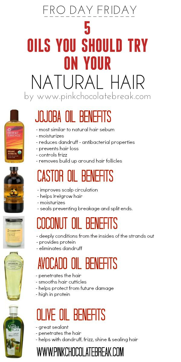 5 oils you should try on your natural hair - pinkchocolatebreak.com