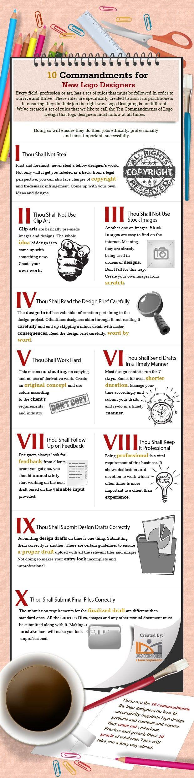 10 commandments for new #Logo designers - #Design