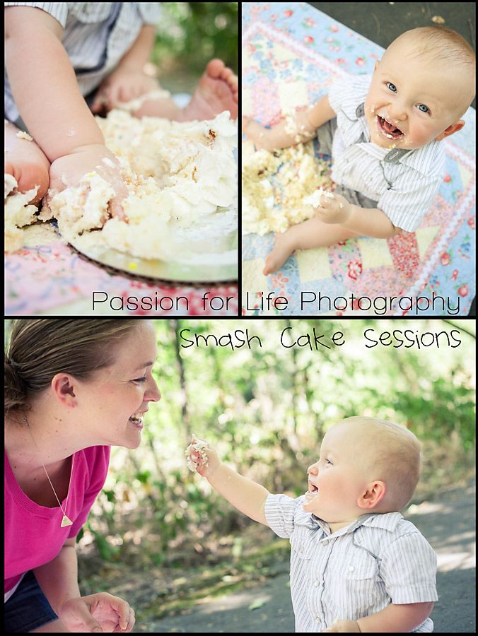 Smash Cake Session - 12 month portraits - Photos by Passion for Life Photography