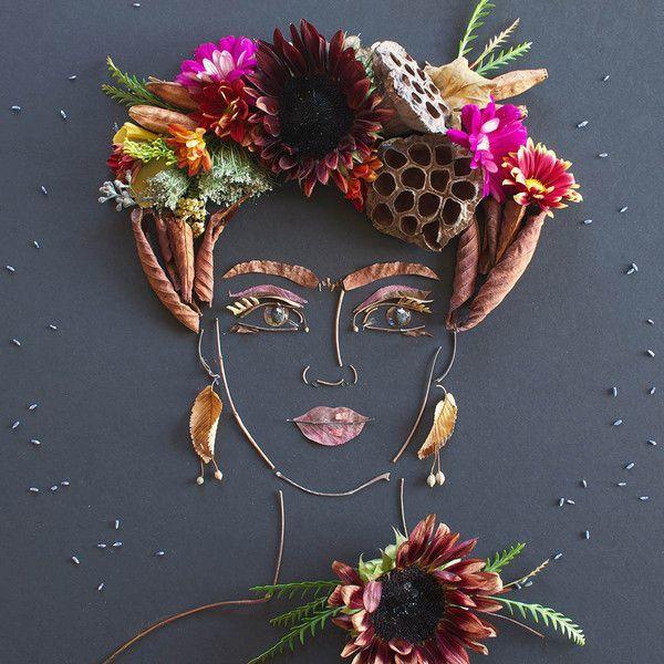 """""""Harvest Frida"""" Flower Face Print"""