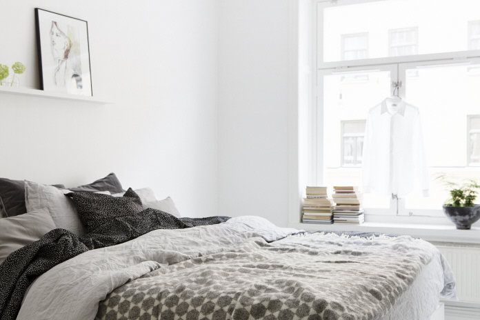 Monochrome flat in Stockholm - via cocolapinedesign.com