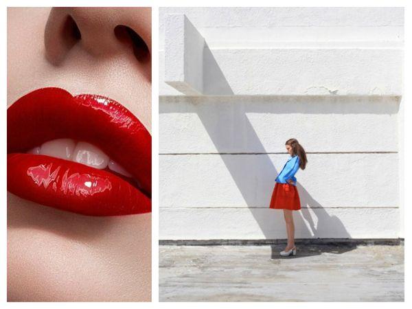 Painel de inspiração azul e vermelho + Moda | Andrea Velame Blog