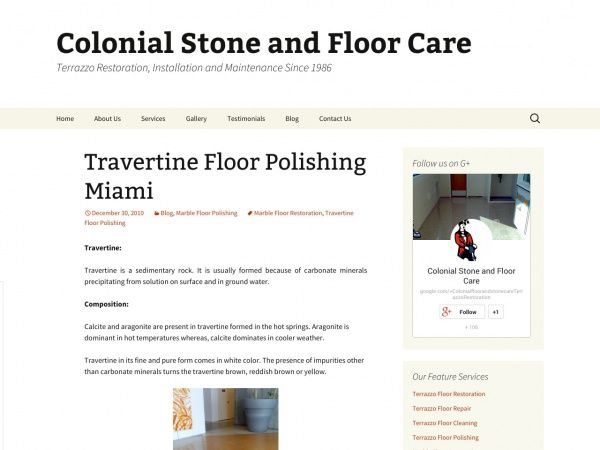 Travertine Floor Polishing Miami