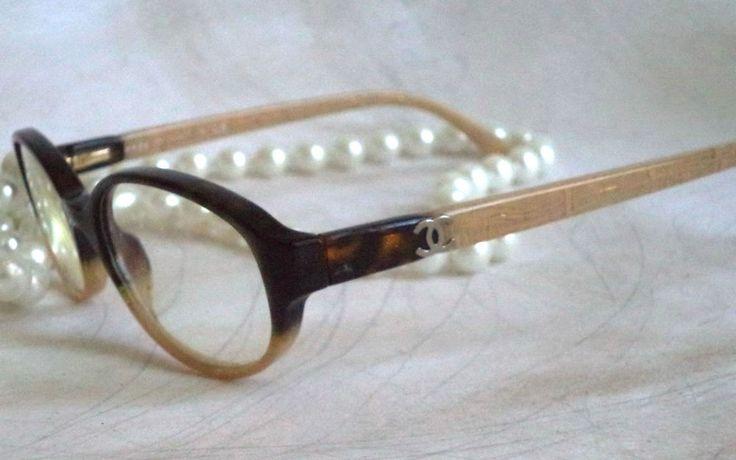 Chanel eyeglasses 3182 Havana Ivory Horn rim Luxury womens 51-17 sunglasses $520 | eBay