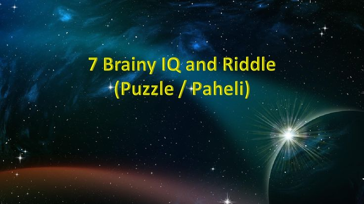 Best riddles for kids, with answers Best IQ for kids with answers We have compiled here best riddles and IQ for kids, children, teens and adult, They are two tricky and mind blowing and help you to get your mind thinking,  and brain treasure, ask them with your kids, friends and family.