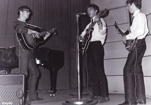 John, George and Paul at the BBC Playhouse Theatre in London, 21 May 1963
