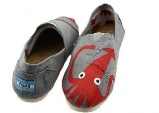 Toms 2014 New Arrival Octopus Canvas Shoes Grey
