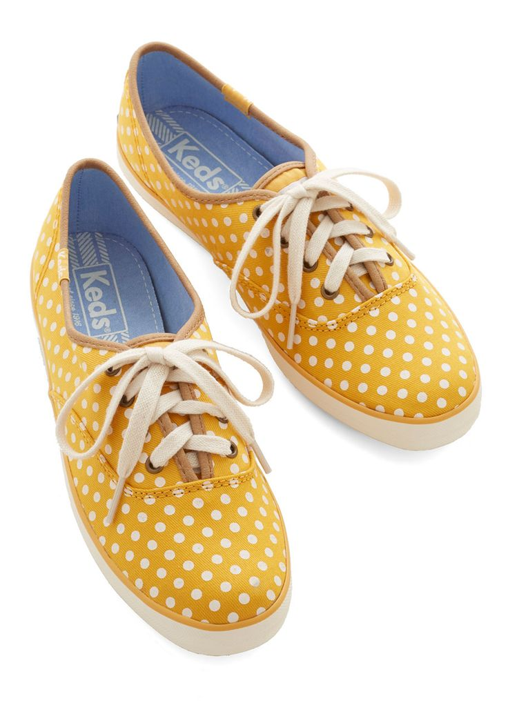 Who doesn't need yellow polka-dot sneakers? Eligible for rewards at stuffdot.com!