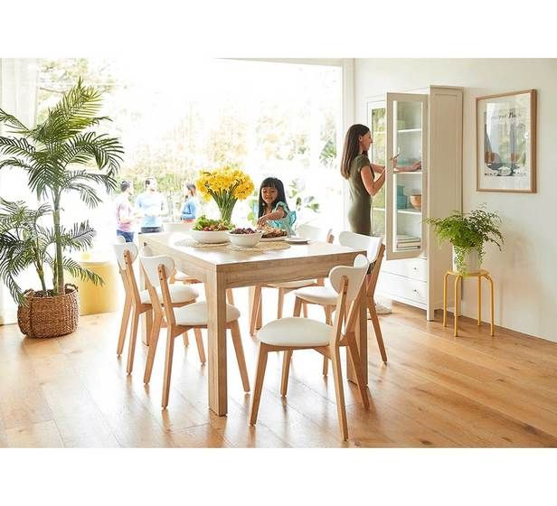 Havana 7 Piece Dining Set With Toto Chairs | Fantastic Furniture
