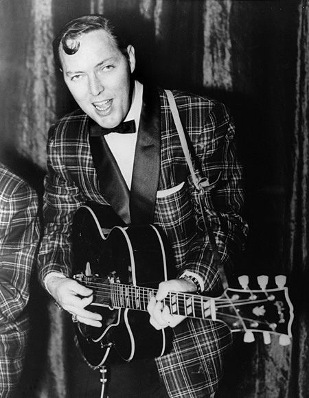 "July 9, 1955. ""(We're Gonna) Rock Around The Clock"" by Bill Haley  His Comets hits #1 on the U.S. top 40 chart, signaling the beginning of the rock era. It stayed there for 8 weeks."