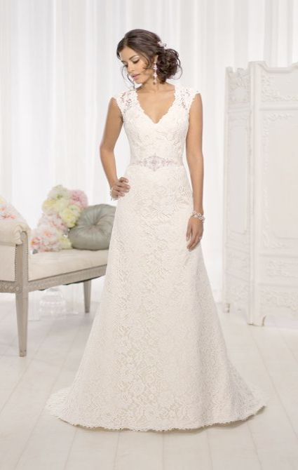 Lace Wedding Dresses No Train A Line Beach Dress