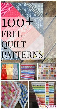 100+ Free Quilt Patterns For Your Home: Nine Patch Patterns, Rag Quilt Patterns, Log Cabin Quilt Patterns, Quilt-As-You-Go Patterns, and More