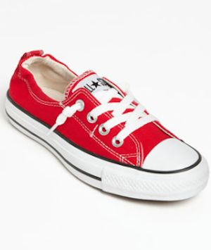 red Chuck Taylor sneakers