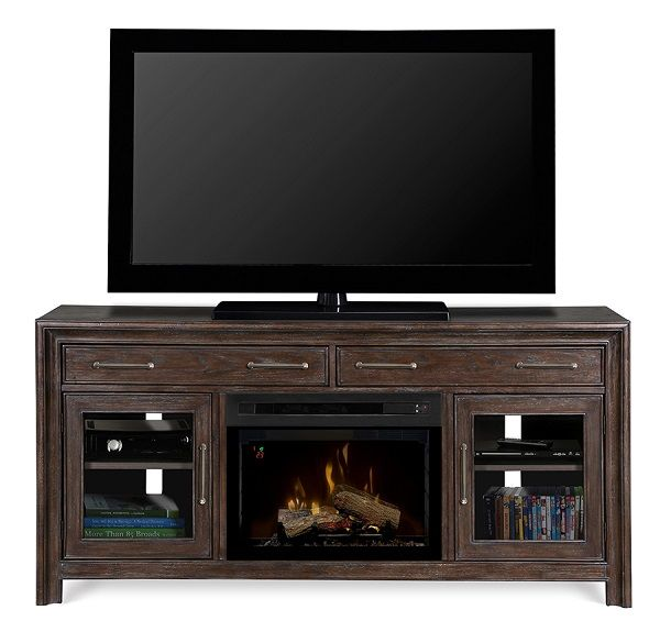 """Dimplex Woolbrook electric fireplace media cabinet with 25"""" firebox; $1399 cdn."""