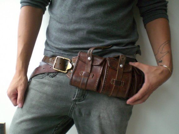 Interesting leather utility belt