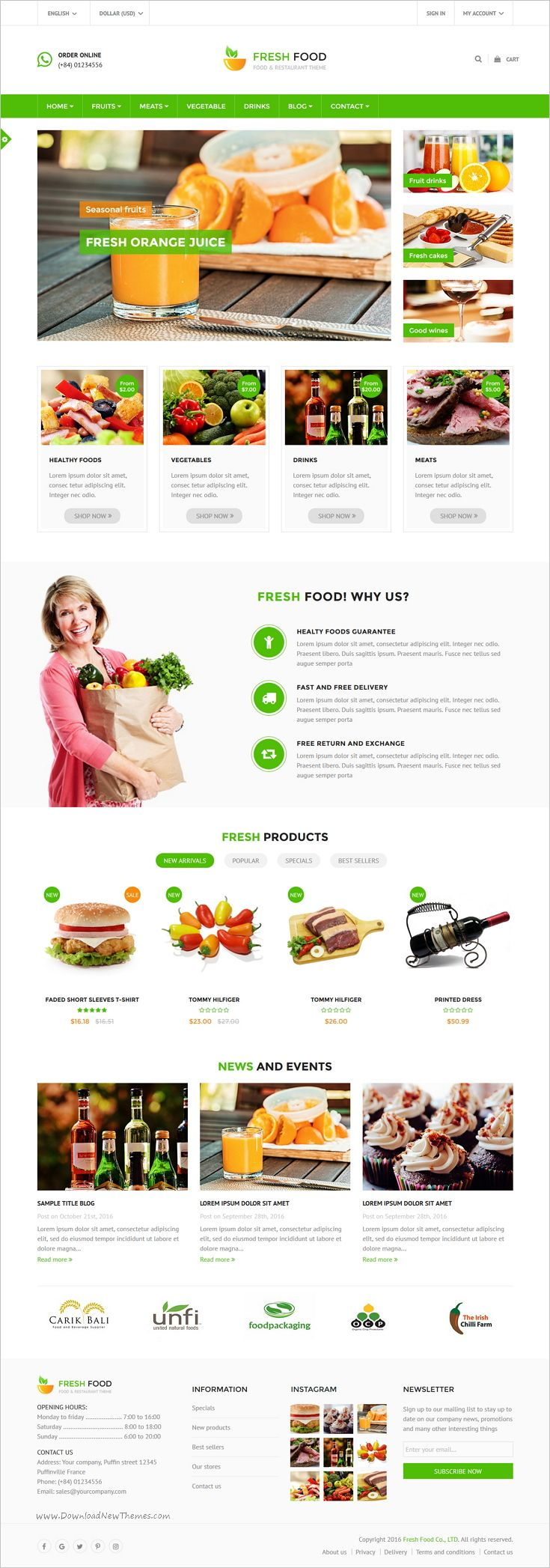 Fresh Food is a fully responsive #Prestashop theme for #Food and Restaurant #stores website with 6 unique homepage layouts download now➩ https://themeforest.net/item/fresh-food-specific-prestashop-theme-for-food-restaurant-stores/18623087?ref=Datasata