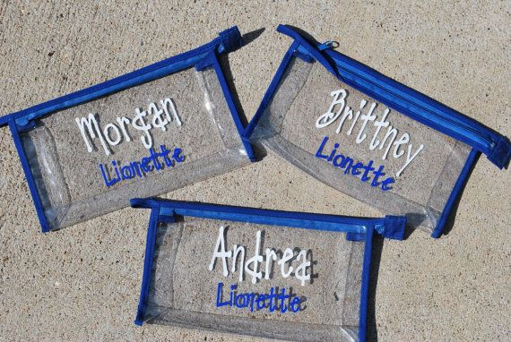 Personalized Clear Cheer Bag with team name by limetreegifts, $9.25