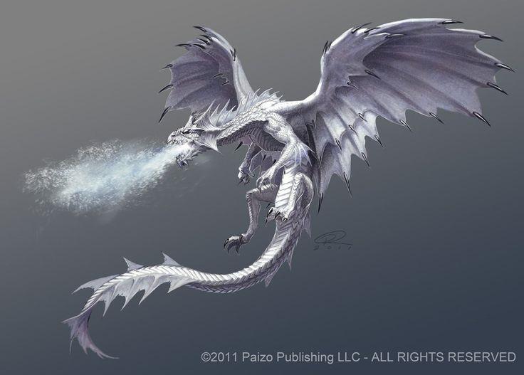 gorgeous white dragon