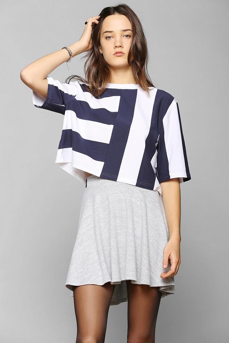 BDG Stripe Boxy Tee #urbanoutfitters