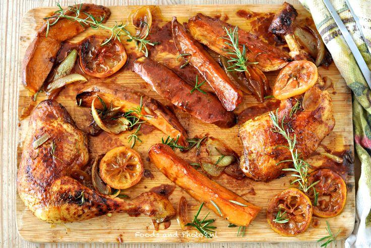 Kip met zoete aardappelen in de oven: zoete aardappelrecept nr. 2