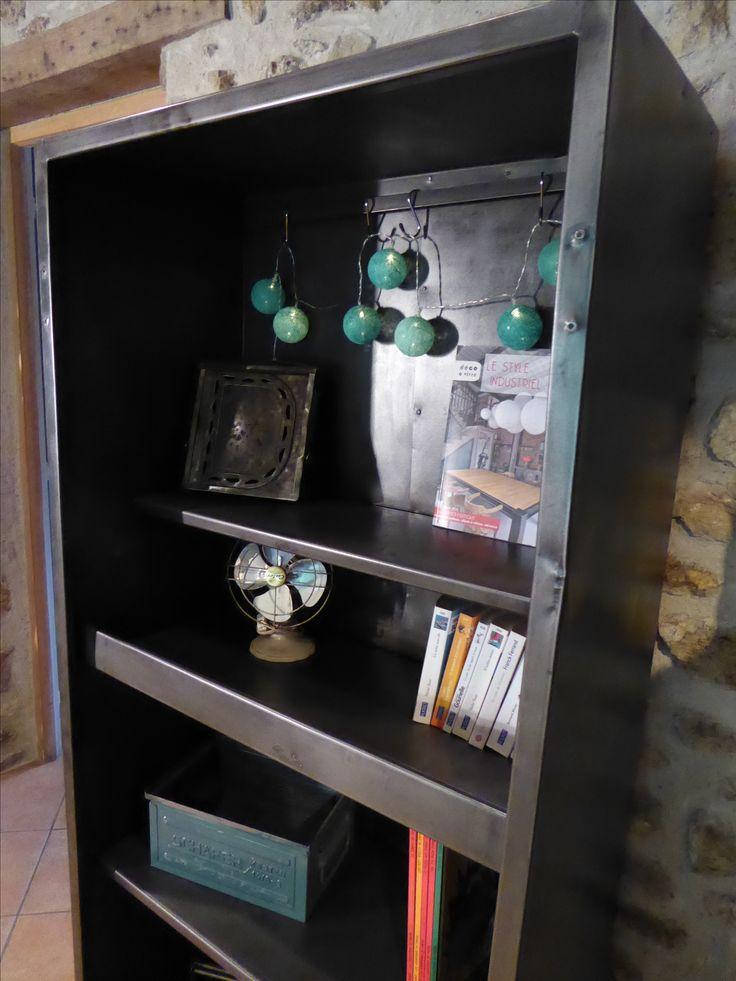 Biblioth Que Industrielle M Tal 490 Inspiration Recup Pinterest Biblioth Que Industrielle