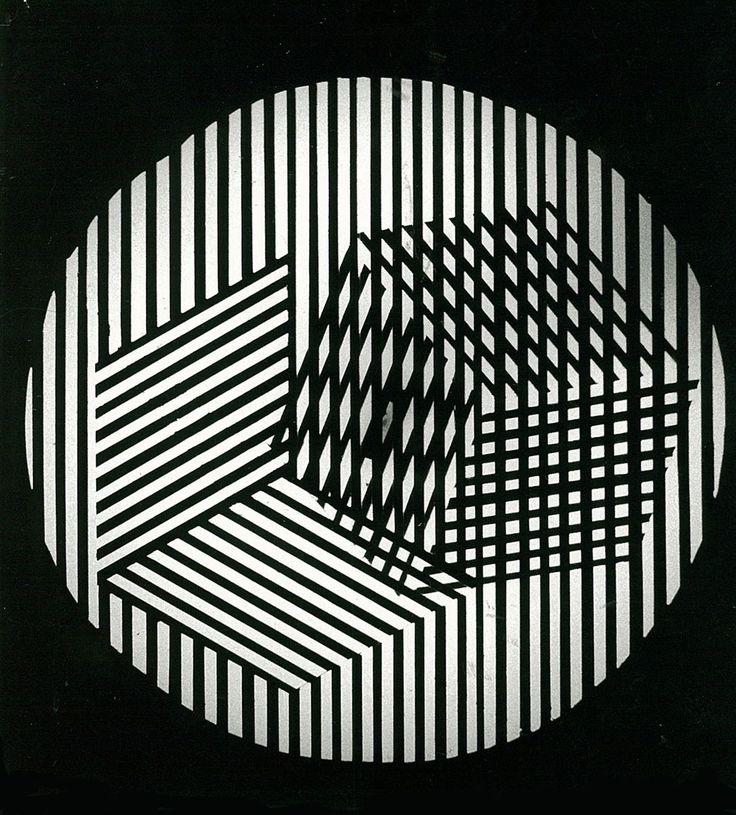 Grazia Varisco, Schema luminoso variabile R. Cubo, (Variable light screen R. Cube), 1963