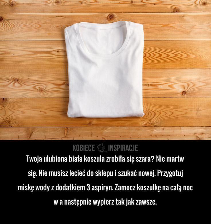Twoja ulubiona biała koszula zrobiła się szara? Nie martw się. Nie musisz lecieć do sklepu i szukać nowej. Przygotuj miskę ...
